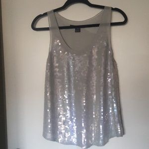 French Connection Beaded & Sequined  Tank Top